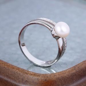 Nhẫn bạc Shining Pearl
