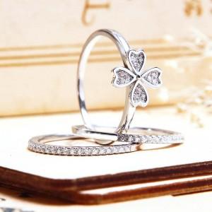 Nhẫn bạc Thekla Love