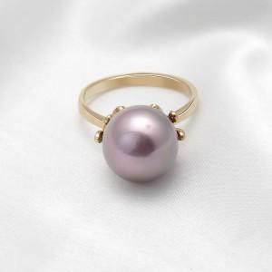 Nhẫn vàng 18k Allure Pearl đính Kim cương