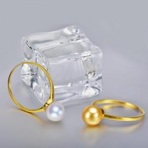 Nhẫn vàng 18k ngọc trai Akoya 7-7.5mm Primrose