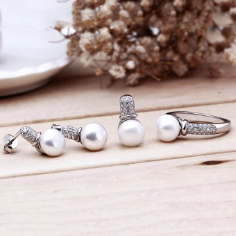 Bộ trang sức bạc Love Pearls