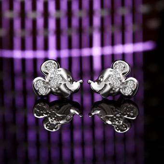 Bông tai bạc Mickey