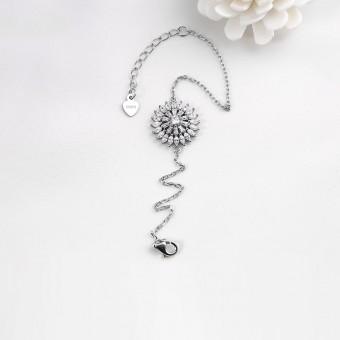 Lắc tay bạc Pretty Sunflower
