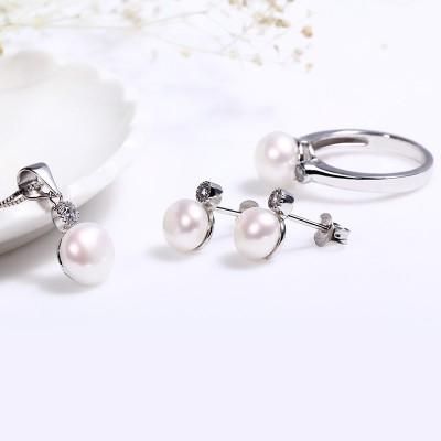Bộ trang sức bạc Sunshine Pearl