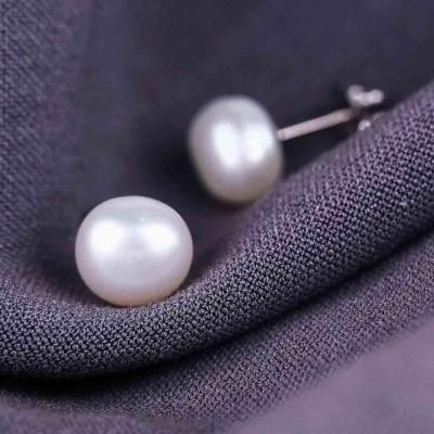 Bông tai bạc Brightly Pearl