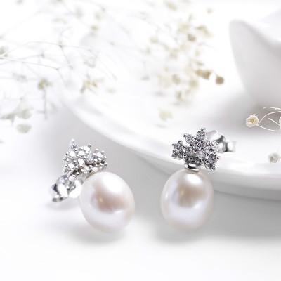 Bông tai bạc Loving Pearl