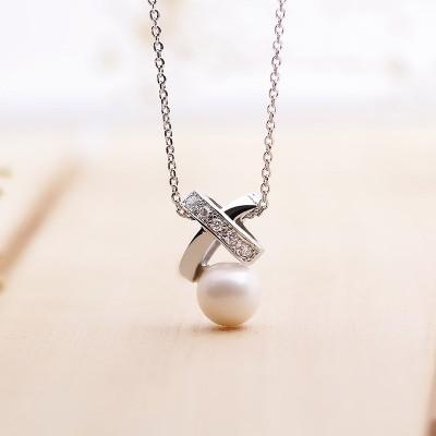 Dây chuyền bạc Gift Of Pearl