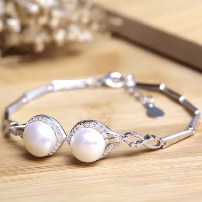 Lắc tay bạc Just Love Pearl