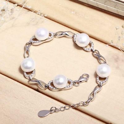 Lắc tay bạc Nice Pearl