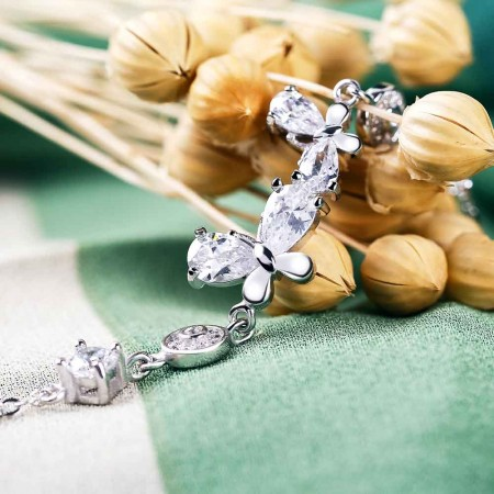 Lắc tay bạc Beautiful Butterfly