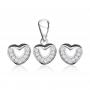 Bộ trang sức bạc Shine Heart 1
