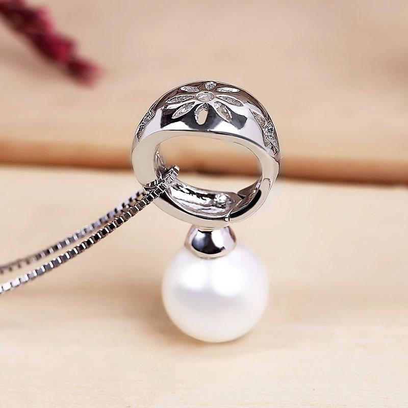 Dây chuyền bạc Basic Pearl - 4450743 , 106040070 , 249_106040070 , 887000 , Day-chuyen-bac-Basic-Pearl-249_106040070 , eropi.com , Dây chuyền bạc Basic Pearl