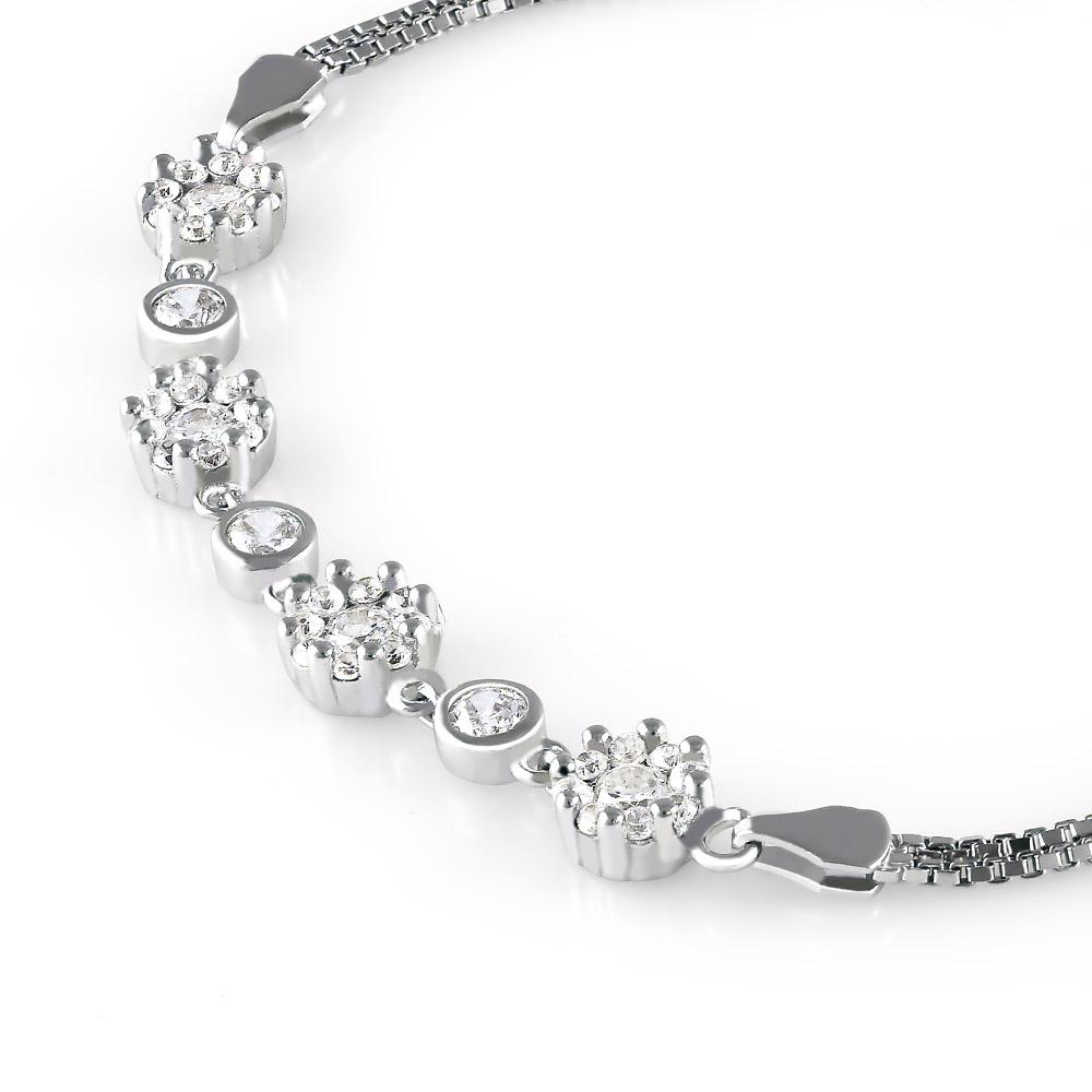 Lắc tay bạc Flower Chain - 4451632 , 101050047 , 249_101050047 , 685000 , Lac-tay-bac-Flower-Chain-249_101050047 , eropi.com , Lắc tay bạc Flower Chain