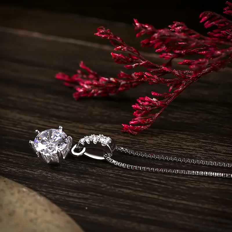 Mặt dây chuyền bạc Tiffany Love