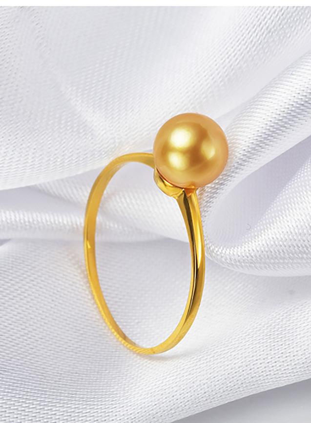 Nhẫn vàng 18k ngọc trai biển Akoya 7-7.5mm Primrose