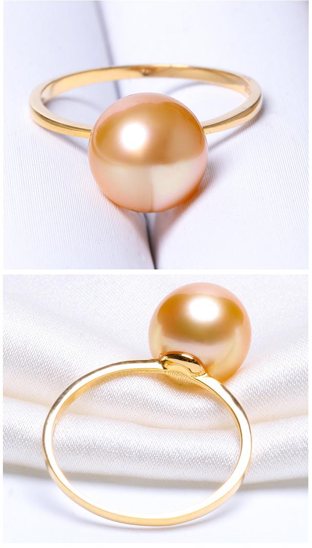 Nhẫn vàng 18k ngọc trai biển South Sea 9-11mm Marigold