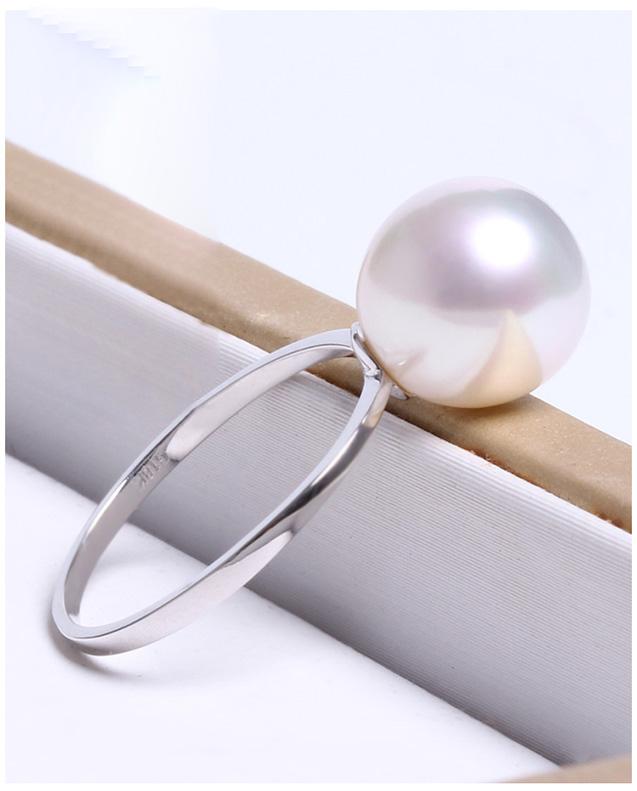 Nhẫn vàng trắng 18k ngọc trai biển South Sea 10-11mm Marigold
