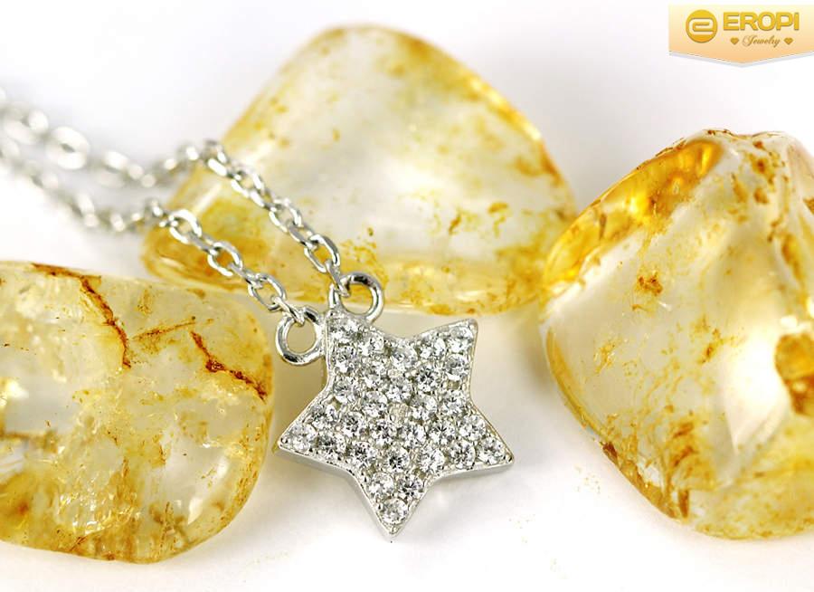 Dây chuyền bạc 925 hình ngôi sao may mắn đem đến cho ngừi đeo sự tốt lành