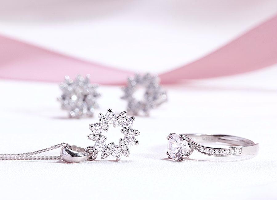Bộ trang sức bạc Gift For You lấp lánh