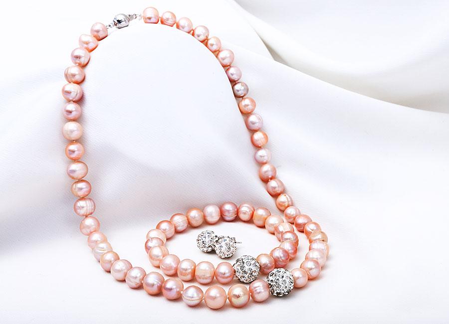 bộ trang sức My Sunshine Pearl màu hồng.