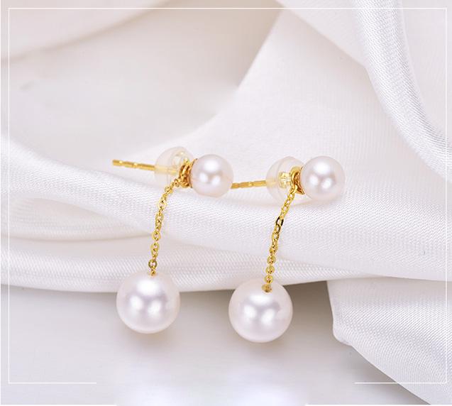 Bông tai vàng 18k ngọc trai biển Akoya 5-8mm Arum Lily, ngọc trai là món trang sức được các nữ doanh nhân, phụ nữ hiện đại và chị em có gu thời trang tinh tế ưa chuộng.