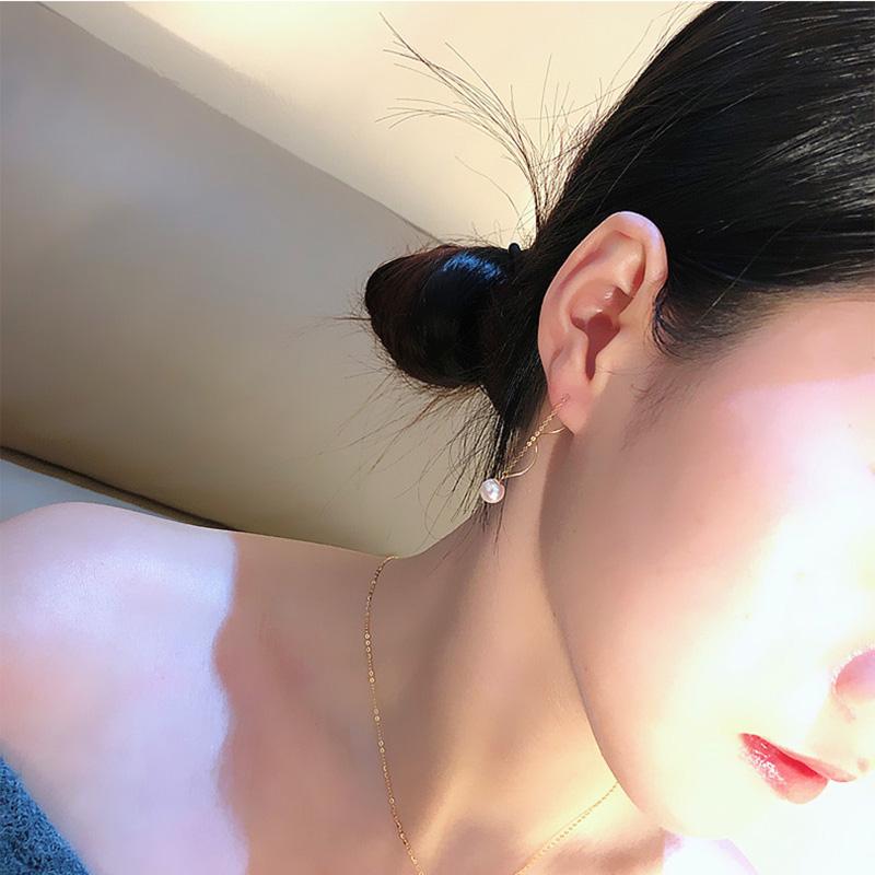 Bông tai vàng 18k ngọc trai biển Akoya 8-9.5mm Afie