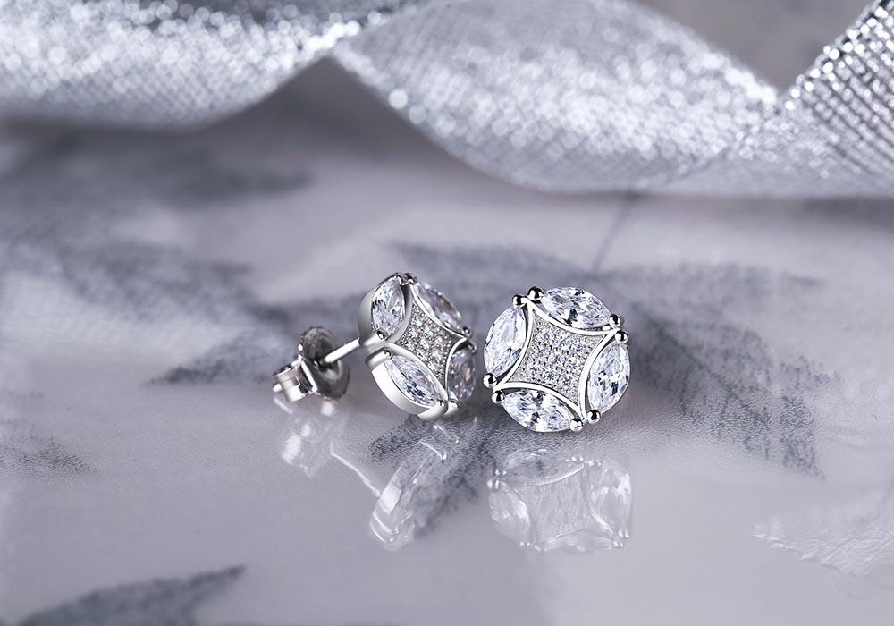 Bông tai bạc Candy Love lấp lánh sắc sáng