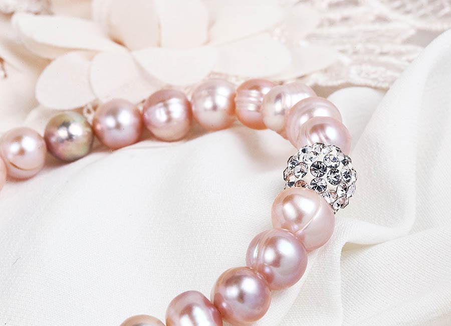 Vòng tay ngọc trai Pink Pearl đẹp