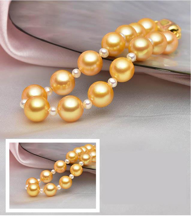 Lắc tay vàng 18k ngọc trai Akoya 8-8.5mm Lovely