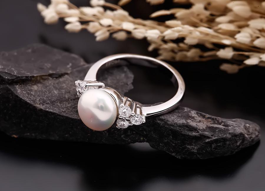 Nhẫn ngọc trai Balor – vẻ đẹp tinh khôi tinh tế.