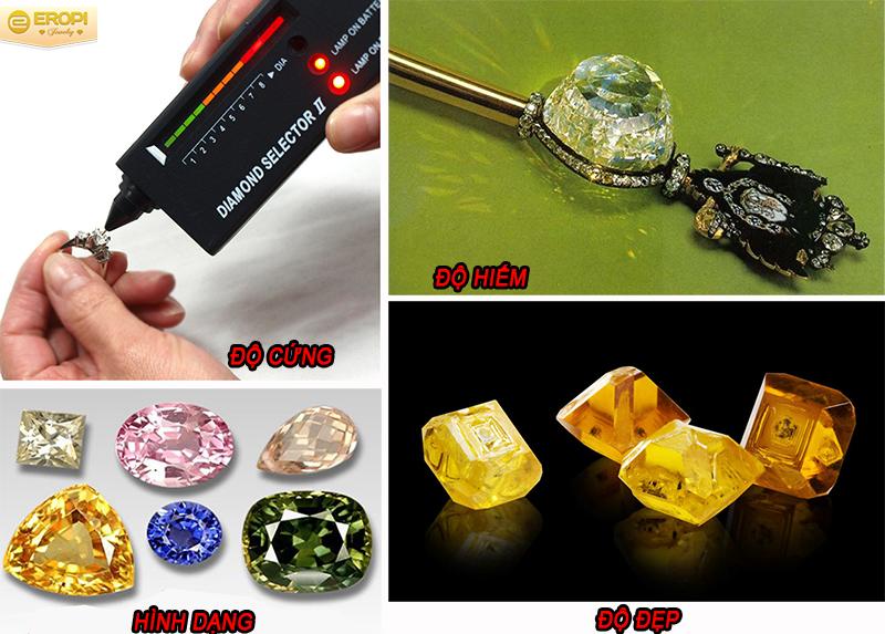 đặc điểm của đá quý và đá bán quý