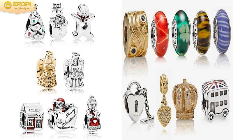 Thiết kế của hạt charm ngày càng sáng tạo và phong phú.