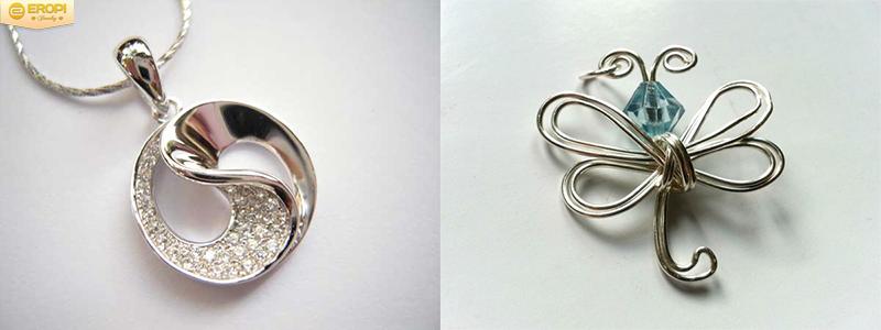Trang sức bạch kim có kích thước nhỏ gọn hơn các kim loại quý khác.
