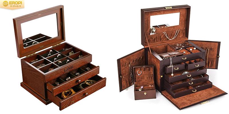 Bảo quản trang sức vàng trong những hộp trang sức kín tránh tiếp xúc với không khí.