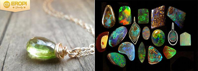 Màu sắc sặc sỡ đến từ những viên đá quý tự nhiên.