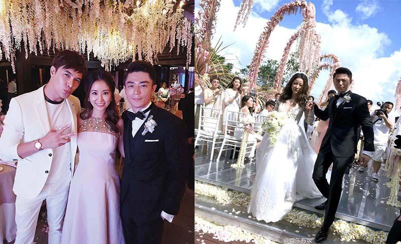 Lâm Tâm Như diên đầm hồng đơn giản khoảng 14.000 USD ( 311 triệu đồng ) trong tiệc cảm ơn ( ảnh trái ).