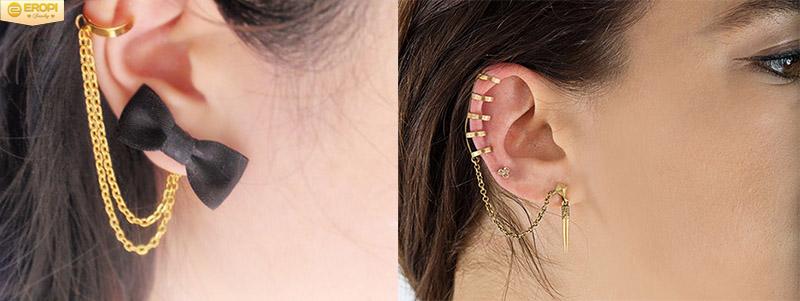 Bông tai kẹp vành