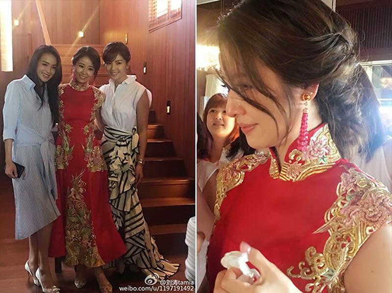 Chiếc váy cưới truyền thống đính đá quý và thêu thủ công