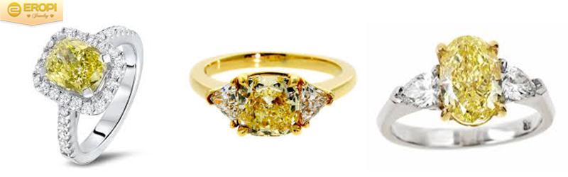 Viên kim cương vàng đai diện cho sự thịnh vượng, giàu sang.