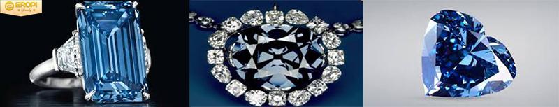 Những viên kim cương màu xanh nổi tiếng thế giới.