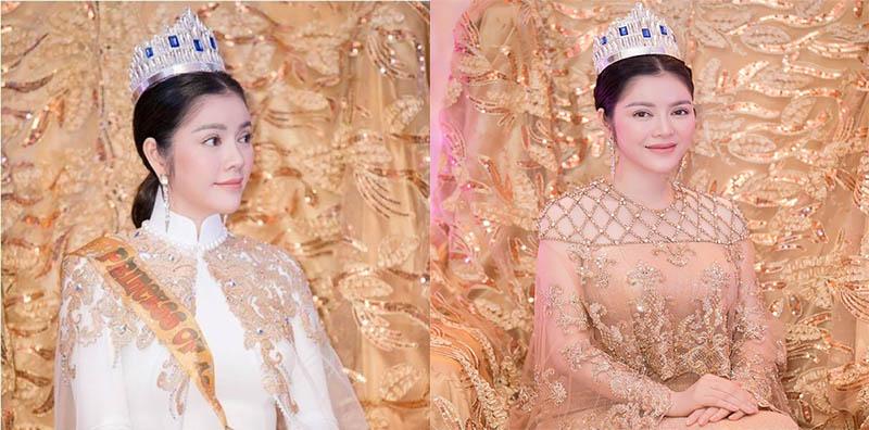 Toát lên vẻ đẹp cao quý và thần thái của một công chúa.