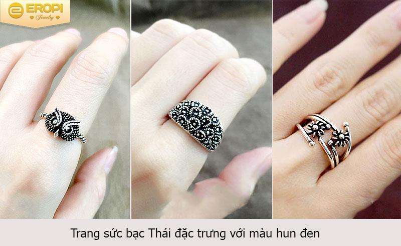 Bạc Thái có màu hun đen, nâu khác biệt