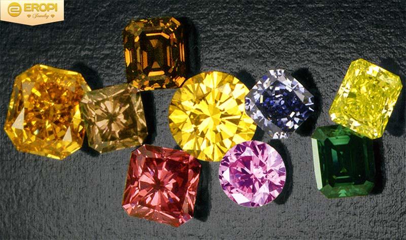 Màu sắc kim cương đa dạng phong phú