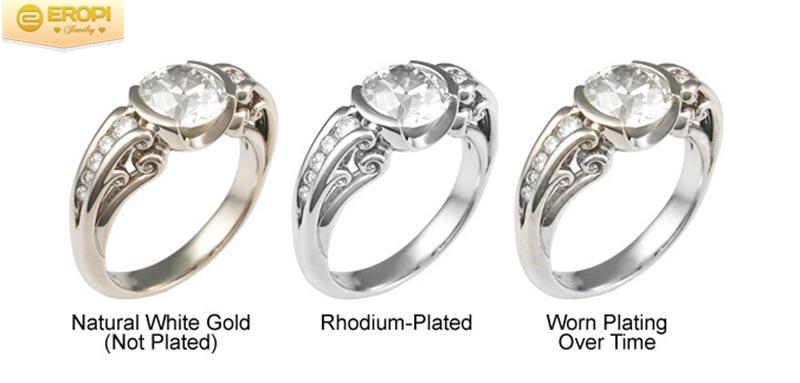 Vàng trắng được xi thêm Phodium để tăng vẻ đẹp