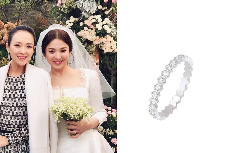 Nhẫn cưới của ngọc nữ màn ảnh Hàn Song Hye Kyo đến từ thương hiệu Chaumet.