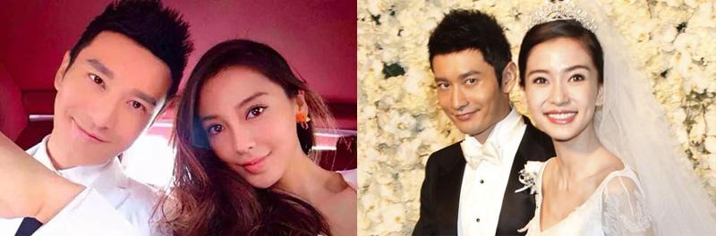 Angela Baby cùng ông xã Huỳnh Hiểu Minh hạnh phúc trong ngày cưới.