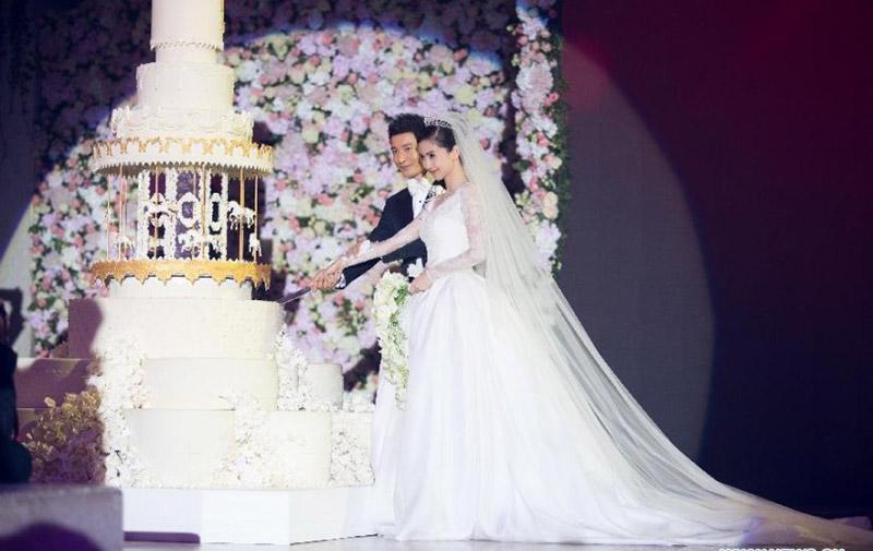 Hình ảnh tiệc cưới của Huỳnh Hiểu Minh và Angela Baby.